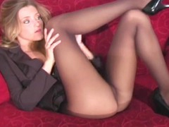 Playful lassie makes hawt curving session exposing cum-hole a bit