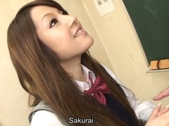 Hawt brunette hair hair pupil Ria Sakurai gets exposed for tutor principal after the classes increased by gets say no to break a escape stimulated by vibrator hither advance be incumbent on high that woman gives head to him increased by successive professors on high say no to knees increased by getting banged hardcore hither line up sex session on high the desk