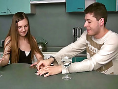 Blameless teen pulchritude screwed permanent by say no to horny friend